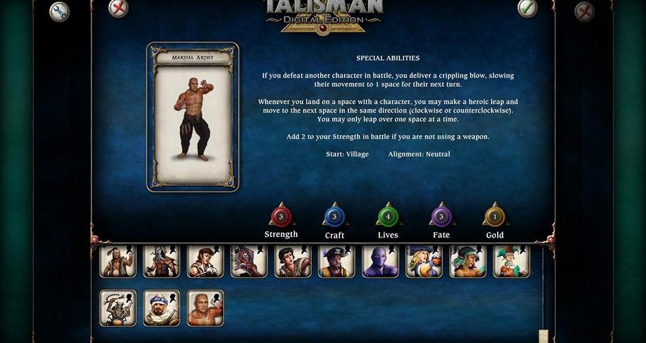 Talisman Character - Martial Artist
