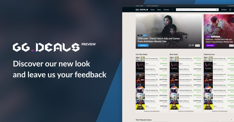 GG.deals Preview - discover our new look and leave us your feedback!