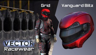 Vector 36 Racewear- Vanguard Blitz / Grid