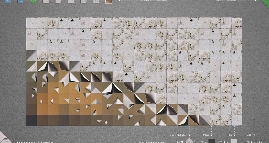 Ink Paper Minesweeper - Traditional Japanese Paintings Pack