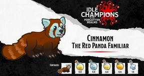 Idle Champions - Cinnamon the Red Panda Familiar Pack