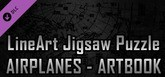 LineArt Jigsaw Puzzle - Airplanes ArtBook